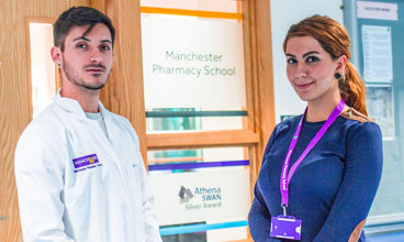 Undergraduate Pharmacy students at the University of Manchester
